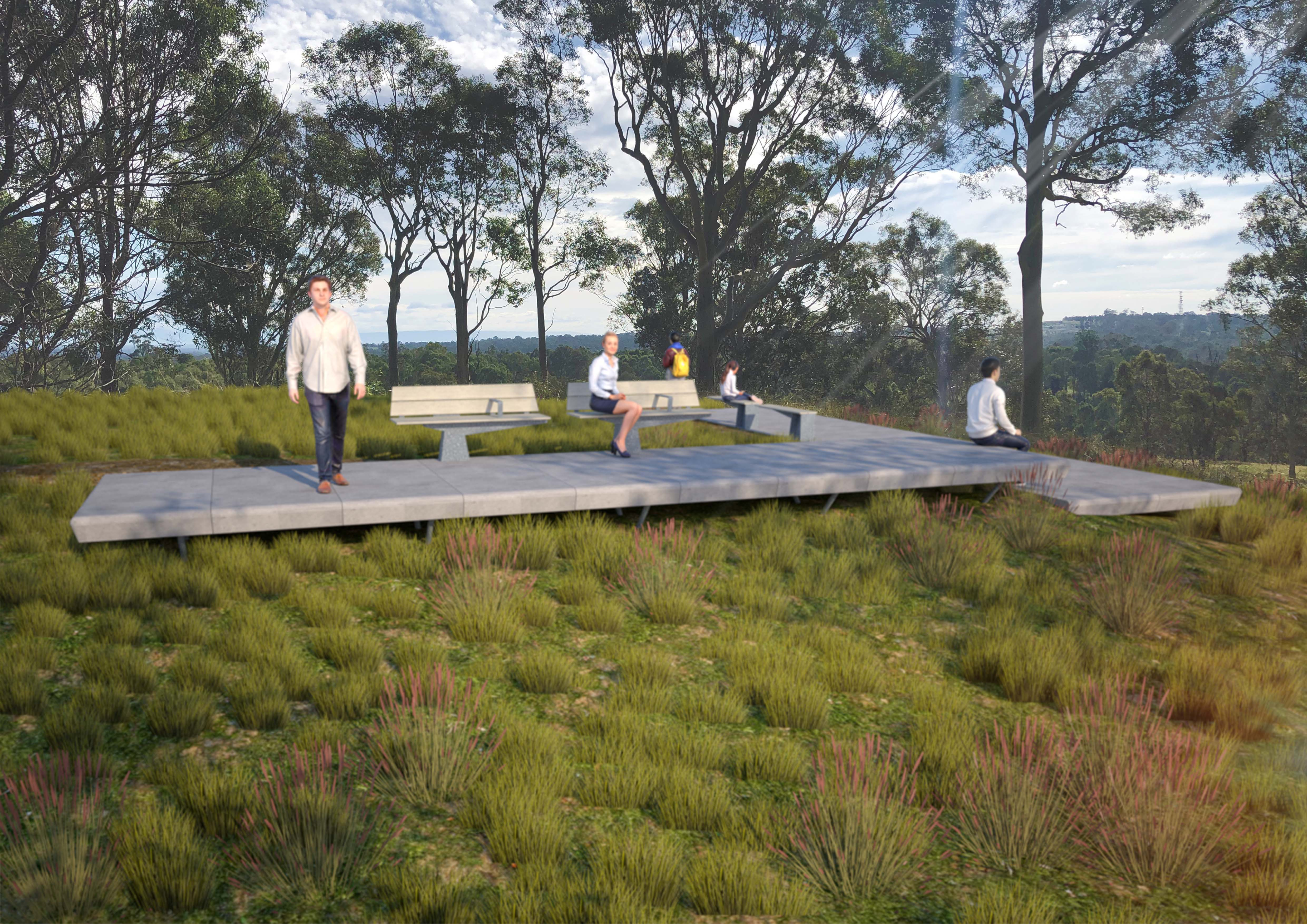 2 Artist impression of a new lookout along the Walk