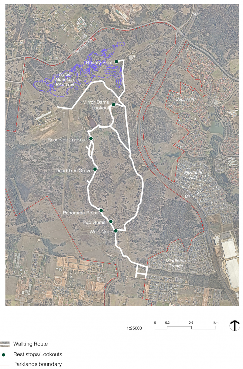 Image of proposed Walk route map